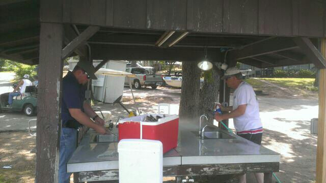Fish cleaning table at Cherokee Landing Malakoff, TX CCL